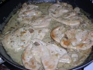 poulet sauce roquefort