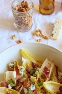 salade d'hiver au roquefort